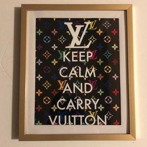Supreme keep calm art print with frame